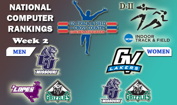 DII Indoor T&F Rankings — 2012 Week #2, January 31