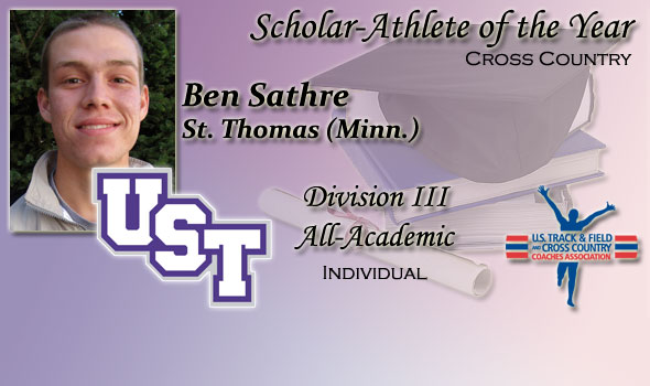 Ben Sathre Named Scholar-Athlete of 2011 Division III Cross Country Season