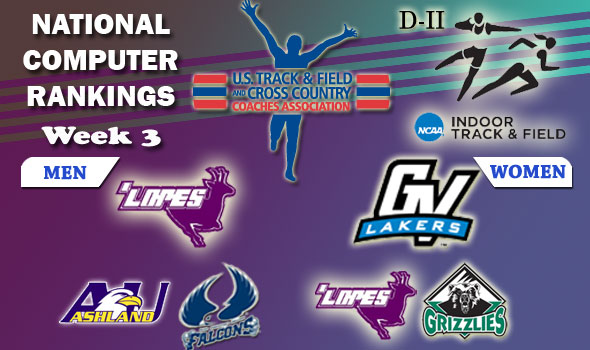 DII Indoor T&F Rankings — 2012 Week #3, February 7