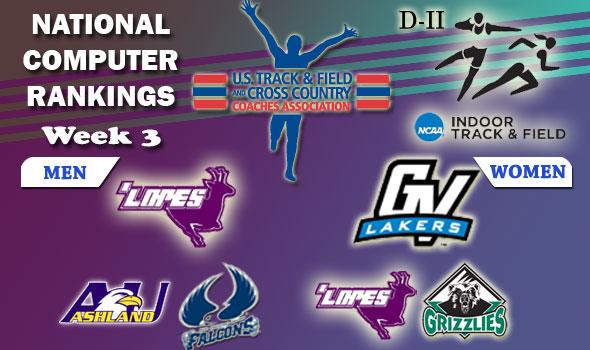DII Indoor T&F Rankings — 2012 Week #3, February 7
