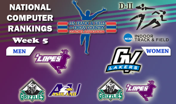DII Indoor T&F Rankings — Week 5, February 21