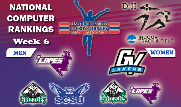 DII Indoor T&F Rankings — Week #6, February 28