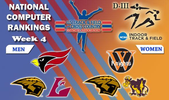DIII Indoor Track & Field Rankings — Week 4, February 15