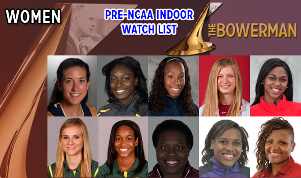 New Names Appear on Post-NCAA Indoor Women's Watch for The Bowerman