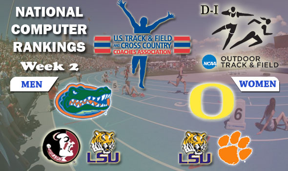 DI Outdoor Track & Field Team Rankings Update — Week 2, April 10