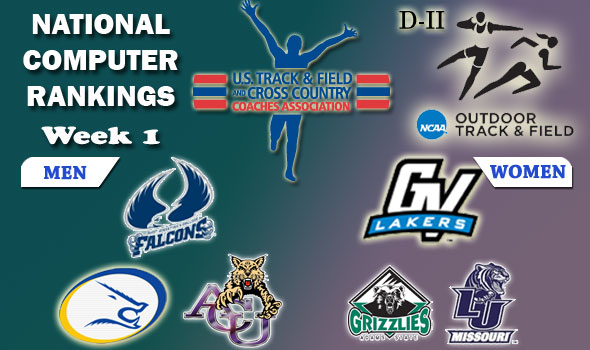 DII Outdoor Track & Field Rankings Update — 2012 Week 1