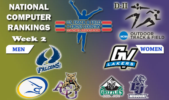 DII Outdoor Track & Field Rankings Update — 2012 Week 2