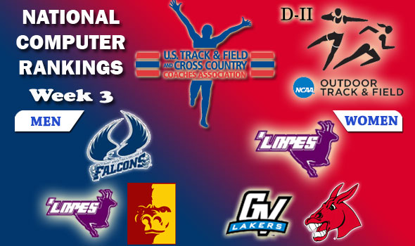 DII Outdoor T&F Rankings Update — 2012 Week #3