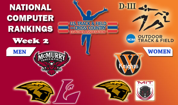 DIII Outdoor T&F Rankings Update — 2012 Week 2, April 11