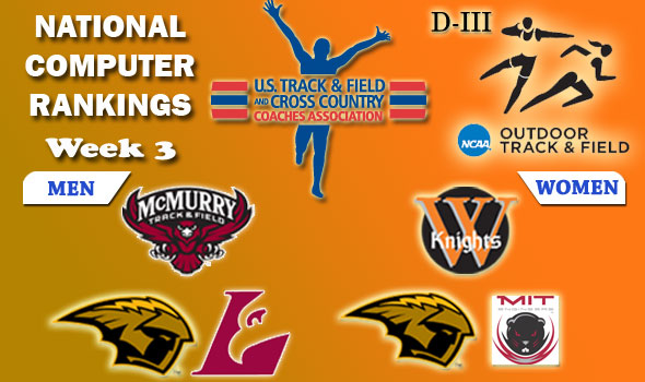 DIII Outdoor T&F Rankings Update — 2012 Week #3