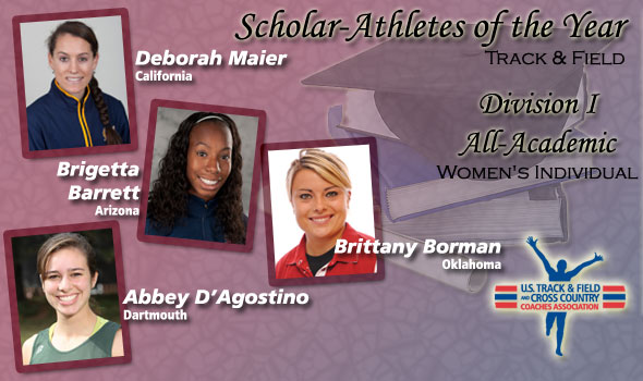 Maier, Barrett, D'Agostino, Borman Tapped as DI Scholar Women of the Year