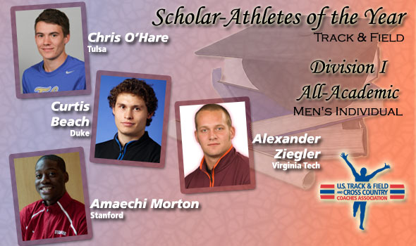 O'Hare, Beach, Morton, Ziegler are Year's Scholar-Athletes for DI Men's Track & Field