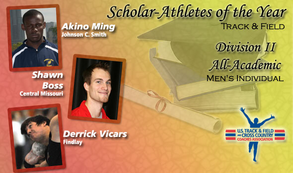 DII Scholar-Athletes for Men's Track & Field Include Ming, Boss, Vicars