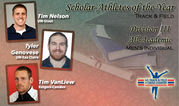 Men's Scholar Athletes and All-Academic Named for DIII Track & Field