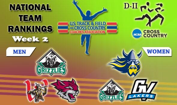 DII National Cross Country Rankings: 2012 Week #2