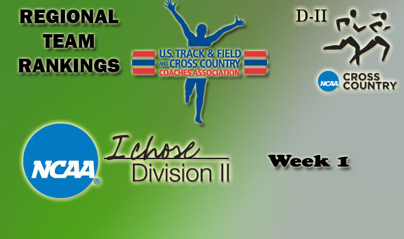 DII Regional Cross Country Rankings: 2012 Week #1