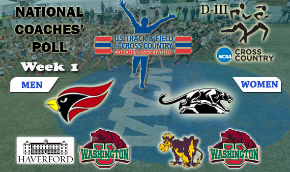 DIII National Cross Country Coaches' Poll — 2012 Week 1