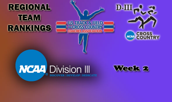 DIII Regional Cross Country Rankings: 2012 Week #2