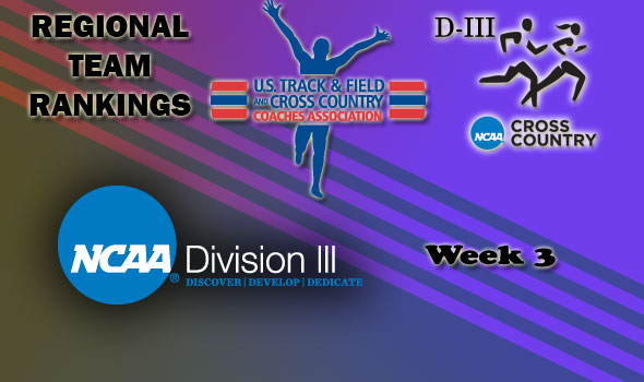 DIII Regional Cross Country Rankings: 2012 Week #3