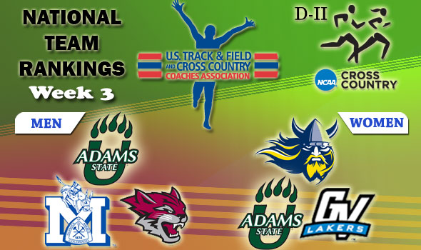 DII National Cross Country Rankings: 2012 Week #3