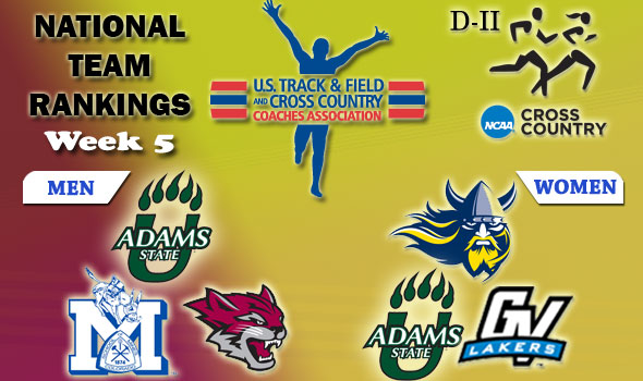 DII National Cross Country Rankings: 2012 Week #5