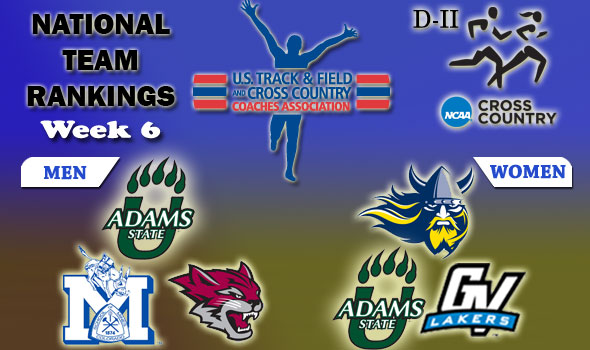 DII National Cross Country Rankings: 2012 Week #6