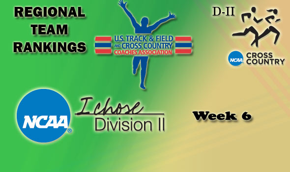 DII Regional Cross Country Rankings: 2012 Week #6 (Pre-Regional)