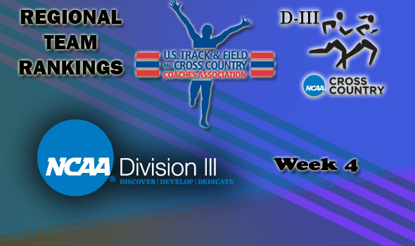 DIII Regional Cross Country Rankings: 2012 Week #4
