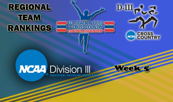 DIII Regional Cross Country Rankings: 2012 Week #5