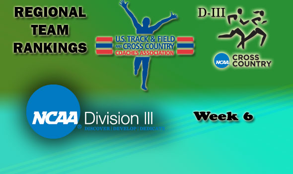 DIII Regional Cross Country Rankings: 2012 Week #6