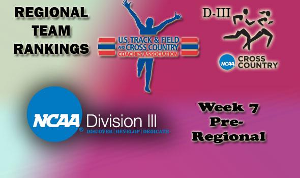 DIII Regional Cross Country Rankings: 2012 Week 7 (Pre-Regional)