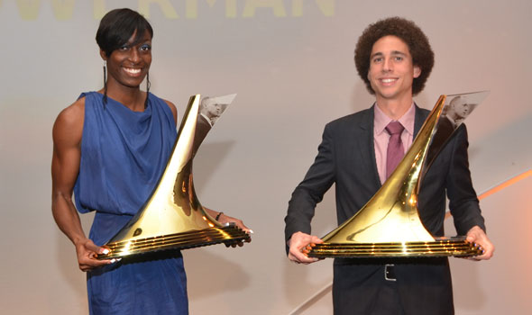 Cam Levins, Kimberlyn Duncan are 2012 Recipients of The Bowerman