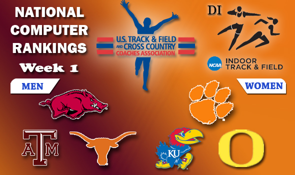 Arkansas and Clemson Retain Top Spots in DI With Texas A&M Charging