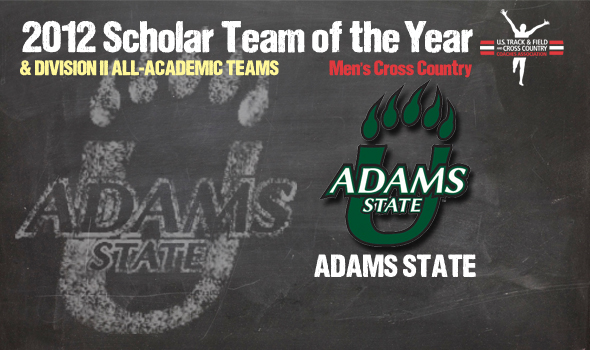 Division II Champ Adams State Named 2012 Cross Country Men's Scholar Team of the Year