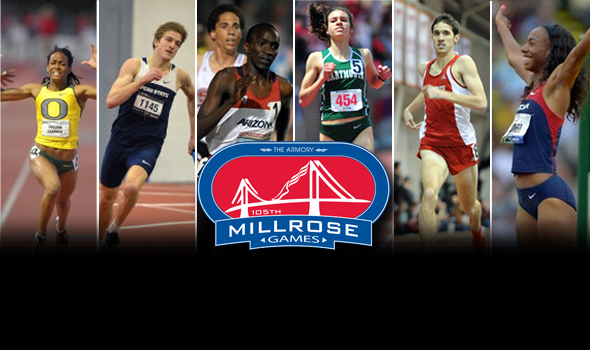 Collegians at the 2013 Millrose Games