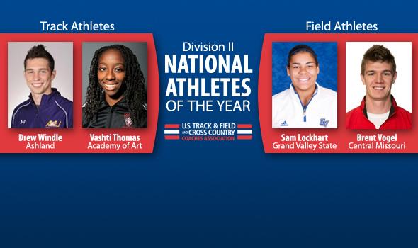 Windle, Vogel, Thomas & Lockhart Named DII Indoor National Athletes of the Year