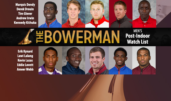 Irwin, Lazas, Lovett & Webb Join Post-Indoor Bowerman Watch List