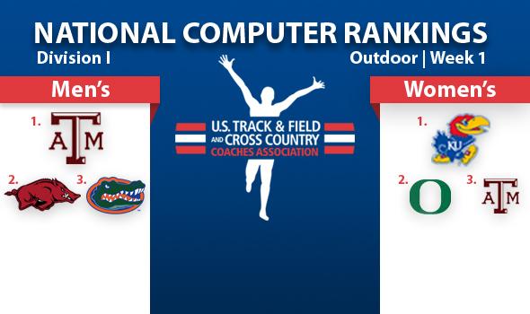 Arkansas Men Closing in on Top Spot in DI Rankings; Kansas Women Extend Lead
