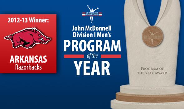 Arkansas Men Win Their First John McDonnell Program of the Year Award
