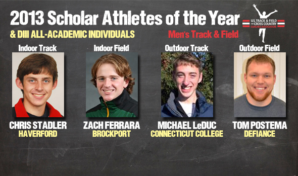 DIII Men's Track & Field Scholar Athletes of the Year, All-Academic Individuals Announced