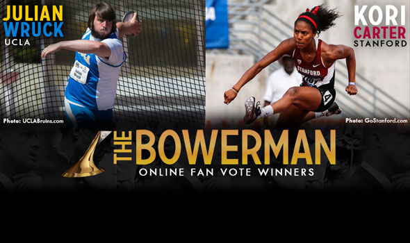 Wruck, Carter Earn The Bowerman Fan Vote Victories