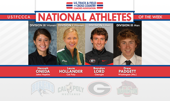 Hollander, Lord, Oneda & Padgett Earn Inaugural XC National Athlete of the Week Awards