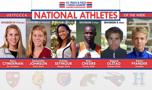 Olstad's & Johnson's DII Conference Titles Headline National Athletes of the Week