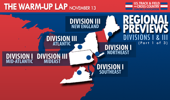 The Warm-Up Lap (Part 1/3): East Coast Regions in DI and DIII