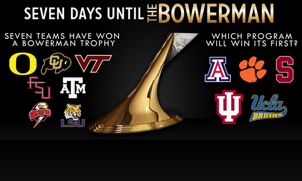 Seven Days Until The Bowerman 2013: Seven Programs Have Won A Trophy - Which is Next?