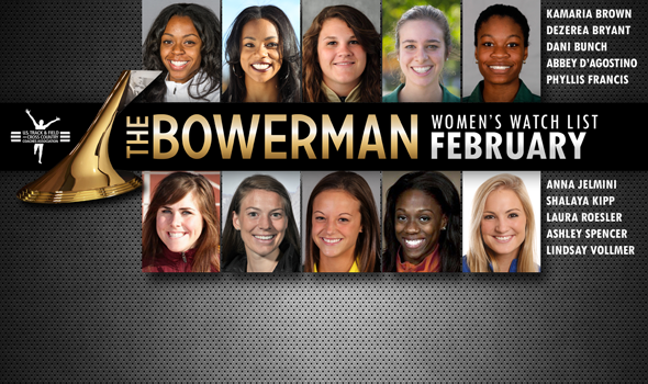 Kentucky's Bryant and Purdue's Bunch Join February Women's The Bowerman Watch List