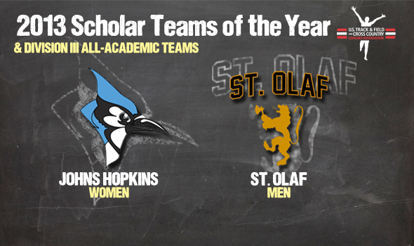 Johns Hopkins Women & St. Olaf Men Named Division III Scholar Teams of the Year