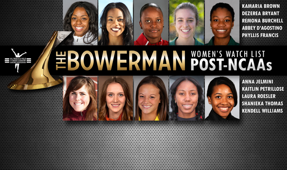 American, World Junior & Collegiate Records Fall to the Newest The Bowerman Women's Watch List