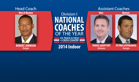 Johnson, Geopfert & Kyprianou Earn Indoor Division I National Coach of the Year Honors
