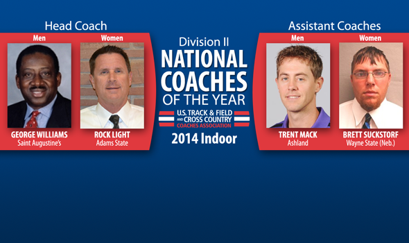 Williams, Light, Mack & Suckstorf Earn Division II Indoor National Coach of the Year Honors